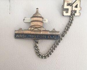 Vintage Estate Commemorative Washington Dc Pin 1954