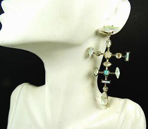 KENDRA SCOTT Teagan Gold Plated Kyocera Opal Dichroic Glass Statement Earrings