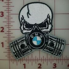 Custom Embroidered BMW Skull Motorcycle Patches Lrg. & Small