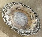 Antique Art Nouveau 800 Silver Repousse Trinket Nut Bowl Hallmarked MM 67 6g