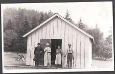 VINTAGE RPPC 1918-30 HOOD RIVER VALLEY OREGON COOKS BAKING CABIN PHOTO POSTCARD