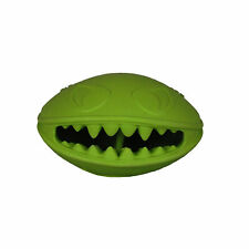 Jolly Pets Monster Mouth 4 inch Green | Treat Hiding Rubber Toy for Dogs