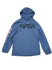 NASA Apollo 11 Challenger Blue Hoodie Jacket Pull Over Youth Size XXL Mens Mediu