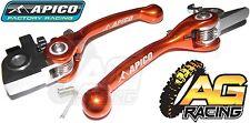 Apico Flexi Lever Set Orange Clutch Lever Brake Lever For KTM XC 500 2007-2012