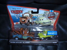 Disney Cars 2 2 pack MATER WITH SPY GLASSES & ACER