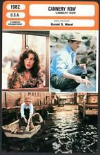 CANNERY ROW - Nolte,Winger,Huston (Fiche Cinéma) 1982