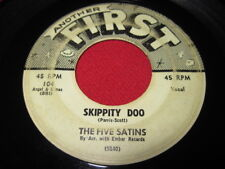 THE FIVE SATINS 45 - WHEN YOUR LOVE COMES ALONG DOO-WOP