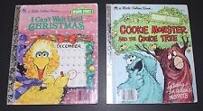 Vintage 1980's Little Golden Books SESAME STREET MUPPETS BOOK LOT Of 2!!