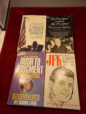 #1 of 11, LOT OF 4 OLD VTG JFK JOHN KENNEDY BOOKS, BIOGRAPHY, TRIBUTE, ERRORS+++
