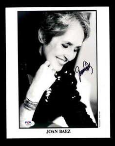 Joan Baez PSA DNA Coa  Hand Signed 8x10 Photo Autograph