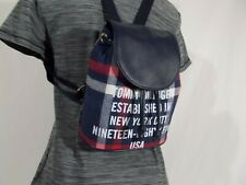 NWT Tommy Hilfiger BENNETT FLAP MINI BACKPACK Heritage BLUE FLANNEL PLAID