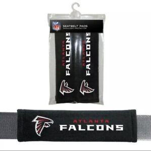 2PC NFL Atlanta Falcons Car Truck Bag Seat Belt Pads / Shoulder Pads Covers