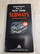 Rare Vintage HAGSTROM'S 7-Color MAP of NEW YORK SUBWAYS [KG10]