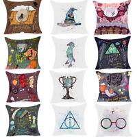 """Cartoon Harry Potter Polyester Cushion Cover Sofa Throw Pillow Case Decor 18"""""""