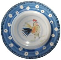 10 Royal Norfolk Dinner Plates Chicken Rooster Blue & White Hand Painted 10.5""
