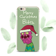 Merry Christmas Bitch Cartoon iPhone XR XS Max Case Soft Cover iPhone 6 8 7 Plus