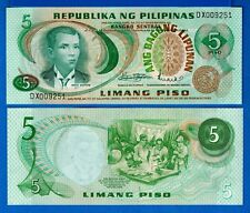 Philippines P-153  5 Peso Year ND 1969 Uncirculated Banknotes
