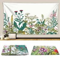 Floral Plants Tapestry Wall Hanging Tapestry Background Cloth Hanging Blanket LD
