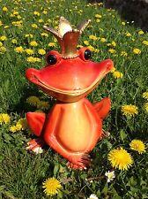 XL großer Froschkönig, wetterfeste Deko Figur Rossi Garten Teich Pool in/outdoor