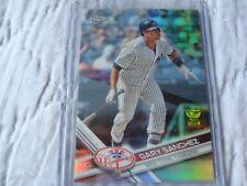 2017 Topps Chrome New York Yankees Refractor Gary Sanchez Catcher Rookie Card