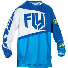 FLY Racing F-16 blau weiß Trikot Jersey mx motocross Enduro Quad MTB BMX
