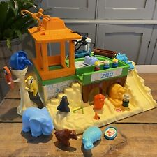 VINTAGE FISHER PRICE ZOO 1984 With Car People And Animals