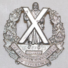 CAMERON HIGHLANDERS OF OTTAWA Cap Badge M.70. Canada