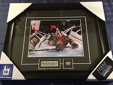 Brendan Gallagher Montreal Canadiens unsigned Frame Cadre photo between pads NHL