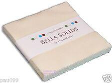"Ivory Moda Bella Solids Charm Pack 42 5"" 100% Cotton Precut Quilt Squares"
