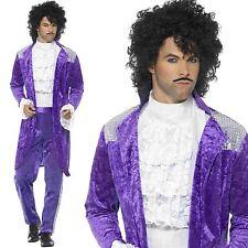 Smiffy's 48004m Purple 80s Musician Costume - Mens Fancy Dress Prince Pop Star