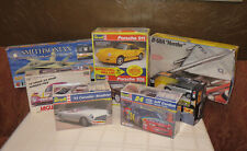 Model Kits Lot Cars Planes Revell Porsche Corvette Jaguar B-58A FA-18A 1:24 1:72