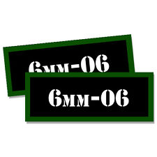 6mm-06 Ammo Can Stickers 2x 6mm-.06 Ammunition Gun Case Labels Decals 2 pack