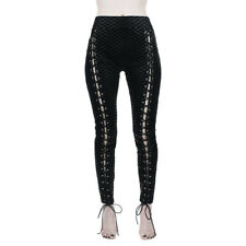 Killstar Gothic Goth Punk Kunstleder Leggings Viper Lace-Up Schnürung