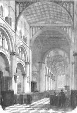 OXON. Cathedral of Christ Church, Oxford, restored, antique print, 1856