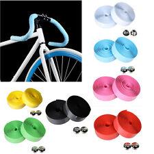 2X rotolo nastro SPUGNA manubrio bicicletta bici anti scivolo sudore+2x morsetto