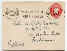 South Africa 1920 KGV Postal Stationery envelope to UK