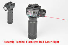Rifle Vertical Foregrip + 1800 Lumen Flashlight Red Laser 20MM Rail Combo Sight