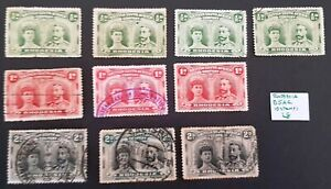 Rhodesia British South Africa Company 10 stamps used condition ref L8