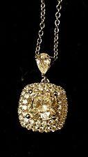 Bella Luce®  Rhodium Over Sterling Silver Dimonique Pendant With Chain