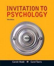 Invitation to Psychology by Carol Tavris & Carole Wade, 5th Edition