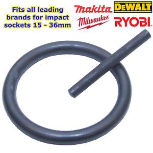 1 x Spare O ring & pin for Makita, Dewalt, Milwaukee etc impact wrench sockets