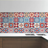 Classic Red Westminster Mosaic Tile Stickers Decal Kitchen Bathroom Living Stair