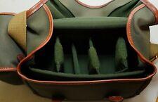 Billingham L2 Sage Fibrenyte Tan Leather Brass Fittings w/ AVEA 5 Camera Bag