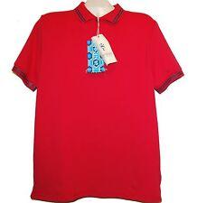 Ganesh Red Logo Styled Italy Men's Polo Shirt Cotton Sz 2XL NEW