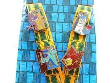 Disney * MONSTERS INC * 4 pin Starter Set w/ Lanyard & Card - Mike Sulley etc