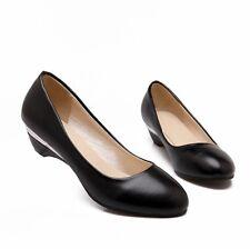 New Black Comfort Block Low Heel Wedding Graceful AU Size 11 Women Shoes s440