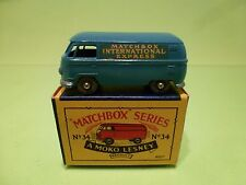LESNEY MOKO MATCHBOX 34 VW VOLKSWAGEN T1  - MINT IN BOX - HIGH QUALITY - RARE