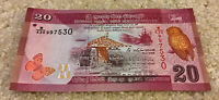 Sri Lanka Banknotes. 20 Rupees. Dated 2016. Uncirculated.
