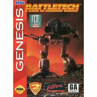 BattleTech: A Game of Armored Combat - Sega Genesis Game *CLEAN VG