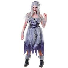 Adult Ladies Halloween Zombie Ghost Pirate Wench Fancy Dress Costume Horror